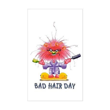 Zelda Bad Hair Day Rectangle Sticker