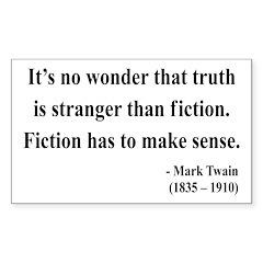 Mark Twain 6 Rectangle Decal