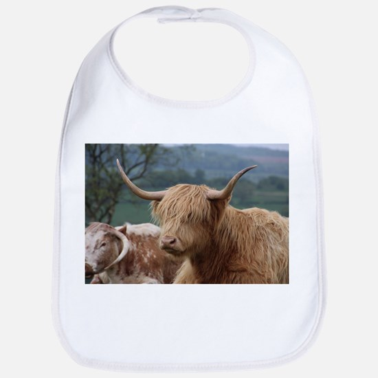 Highland cattle Baby Bib