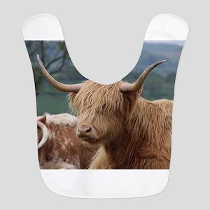 Highland cattle Polyester Baby Bib
