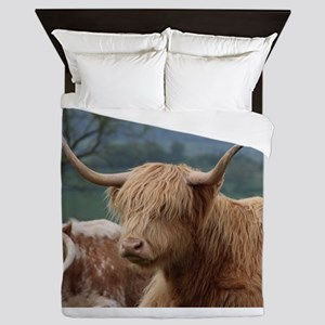 Highland cattle Queen Duvet