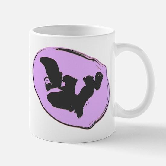 Baby Silhouette Mauve Mug
