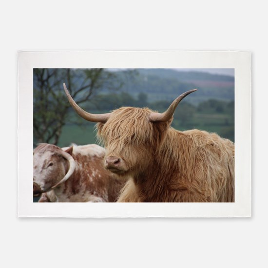 Highland cattle 5'x7'Area Rug