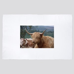 Highland cattle 4' x 6' Rug