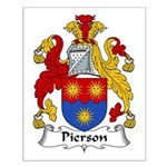 Pierson Family Crest Small Poster