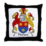 Pierson Family Crest Throw Pillow