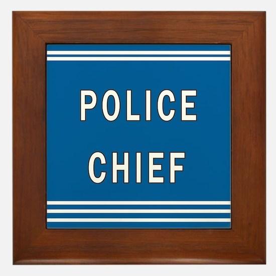 Police Chief Framed Tile