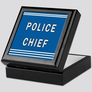 Police Chief Keepsake Box