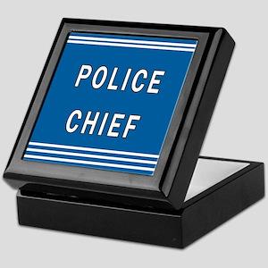 Police Chief Keepsake Box