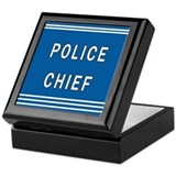 Chief of police Square Keepsake Boxes