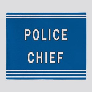 Police Chief Throw Blanket