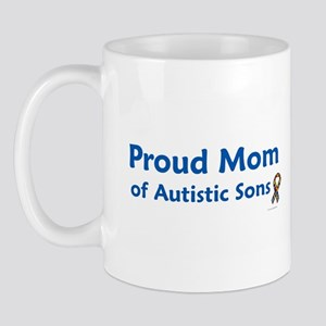 Proud Mom Of Autistic Sons Mug