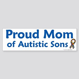 Proud Mom Of Autistic Sons Bumper Sticker