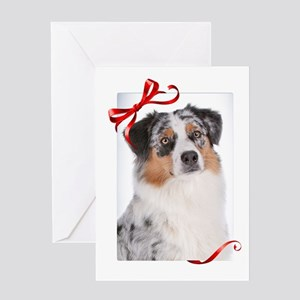 Australian Shepherd Christmas Greeting Card
