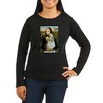 Mona & her Borzoi Women's Long Sleeve Dark T-Shirt