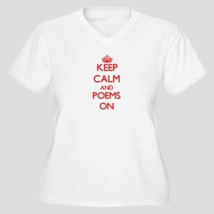 Keep Calm and Poems ON Plus Size T-Shirt