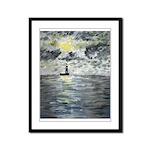 Manchac Lighthouse Framed Panel Print