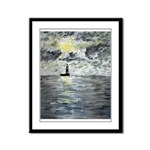 Manchac Lighthouse Framed Panel Print