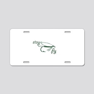 Stay Fly Fishing Lure Green Aluminum License Plate