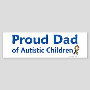 Proud Dad Of Autistic Children Bumper Sticker