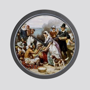 The First Thanksgiving Wall Clock