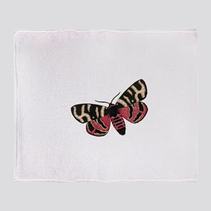 Vintage Butterfly with Spots Throw Blanket