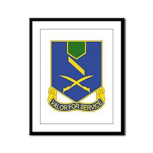 137th Infantry Regiment - Valor For Service Framed