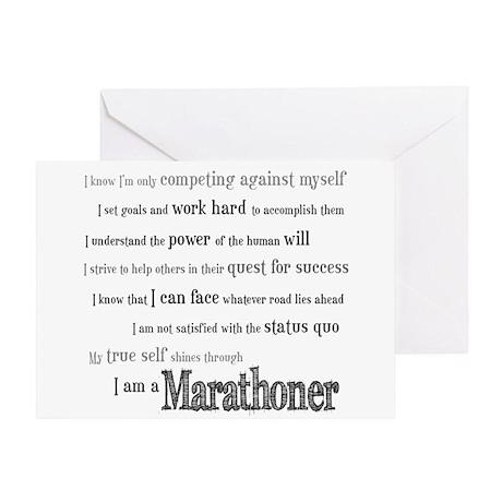 I Am a Marathoner- Good Luck Card