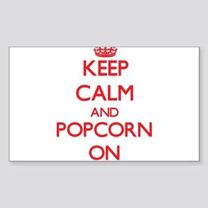 Keep Calm and Popcorn ON Sticker
