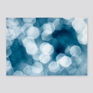 Blue abstract 5'x7'Area Rug