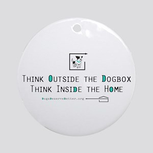 Think Outside the Dogbox Ornament (Round)