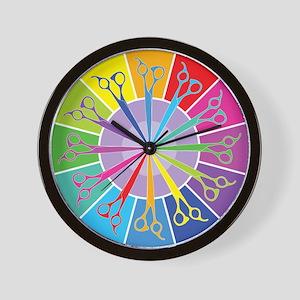 Hair Stylist Shears Color Wheel Wall Clock