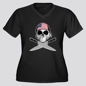American Chef: Chef Knives Plus Size T-Shirt