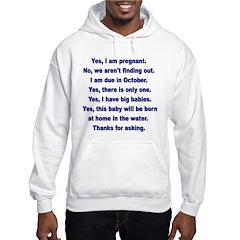 Custom Pregnancy Shirt Hoodie