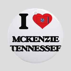 I love Mckenzie Tennessee Ornament (Round)