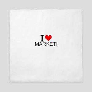 I Love Marketing Queen Duvet