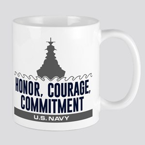 Navy Honor Courage Commitment 11 oz Ceramic Mug