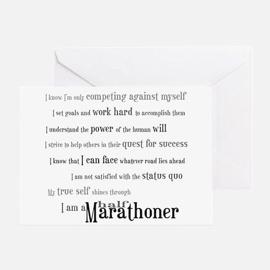 I Am a Half Marathoner- Congratulations Card