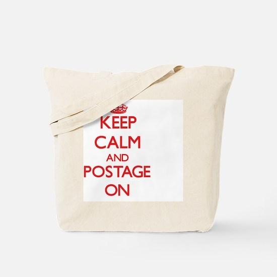 Keep Calm and Postage ON Tote Bag