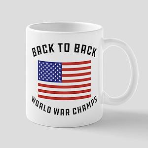 Back to Back World War Champs 11 oz Ceramic Mug