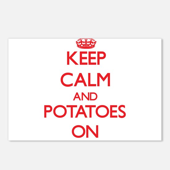 Keep Calm and Potatoes ON Postcards (Package of 8)