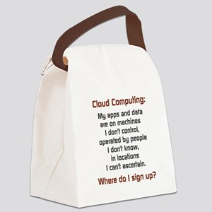 Cloud Computing Canvas Lunch Bag