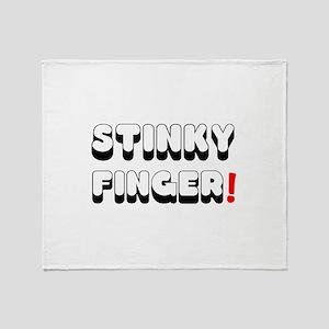 STINKY FINGER! Throw Blanket