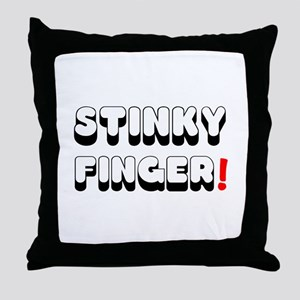 STINKY FINGER! Throw Pillow