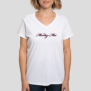 Mordez-Moi (Bite Me) Women's V-Neck T-Shirt