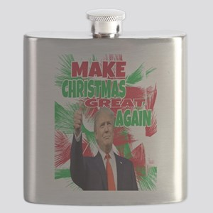 MAKE CHRISTMAS GREAT AGAIN Flask