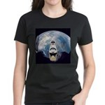 Earth and the space shuttle Women's Dark T-Shirt