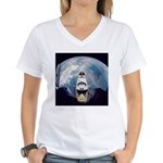 Earth and the space shuttle Women's V-Neck T-Shirt