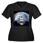 Earth and the space shuttle Women's Plus Size V-Ne