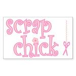 Scrap Chick Rectangle Sticker